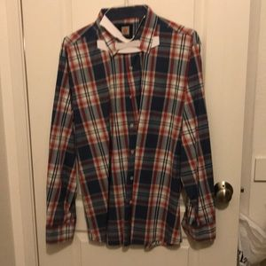 Red/White/Blue Long Sleeve Button Down